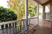 Fantastic covered and open rear porch