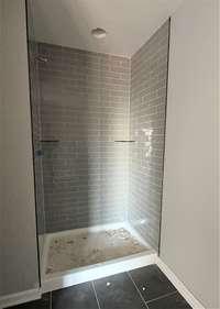 Tile shower in master