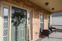 Wonderful covered front porch