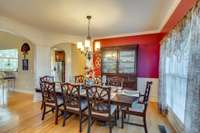 Large gatherings are welcome in the formal dining room