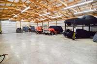 Massive wonderful interior of the detached garage