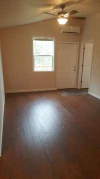 Beautiful laminate flooring throughout