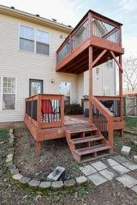 Upper and lower decks