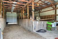 6 stall horse barn with wash bay and tack room.