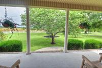 Rock your worries away on the covered front porch.