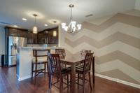 Check out that cool wall in the dining area.