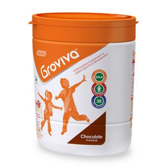 Groviva® - Child Nutrition Supplement - 200g Chocolate (Tub)