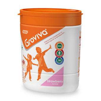 Groviva® - Child Nutrition Supplement - 200g Strawberry (Tub)