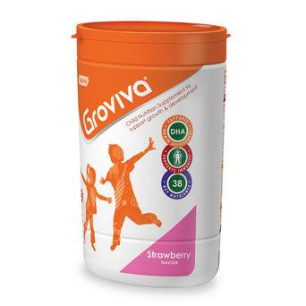 Groviva® - Child Nutrition Supplement - 400g Strawberry (Tub)