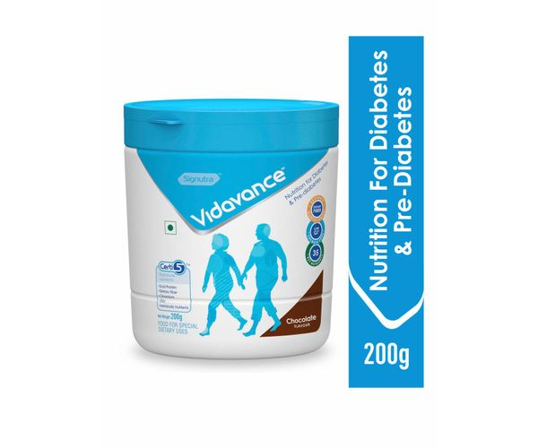Vidavance® - Advanced Nutrition for Diabetes and Pre Diabetes - 200g Chocolate (Tub)