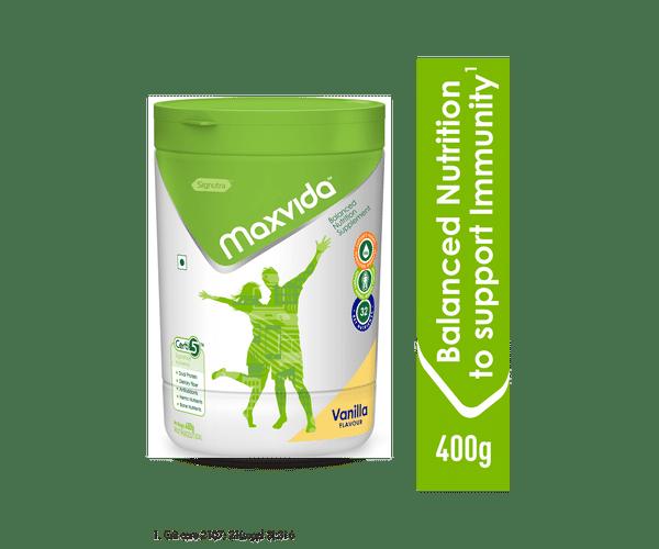 Maxvida® -  Balanced Nutrition Supplement for Adults - 400g Vanilla (Tub)