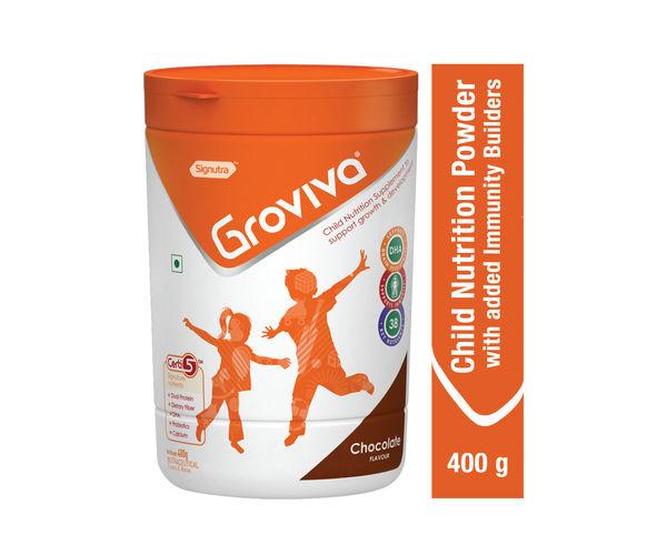 Groviva® - Child Nutrition Supplement - 400g Chocolate (Tub)