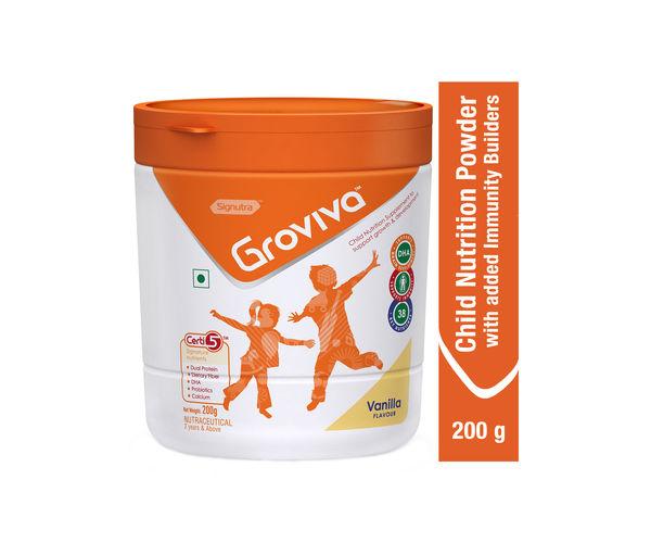 Groviva® - Child Nutrition Supplement - 200g Vanilla (Tub)