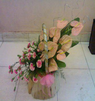 Anthurium Carnation Basket