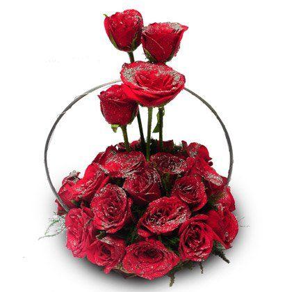 24 Red Roses Basket