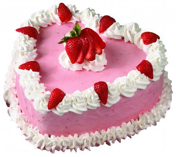 1 KG Heart Shape Strawberry Cake