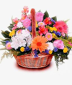 20 Mix Flowers Basket