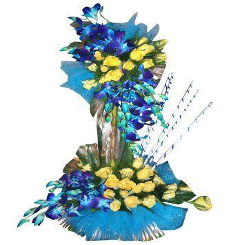 Orchid & Roses Arrangement