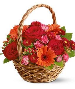 15 Mix Flowers Basket