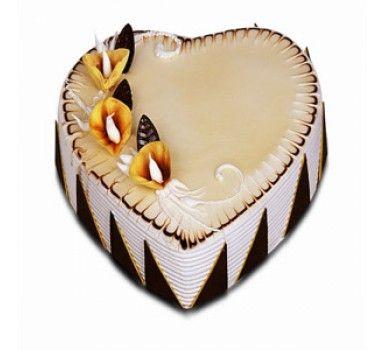 3 KG Heart Shape Butterscotch Cake