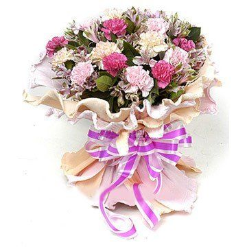 Attractive wrapping Carnation Bunch