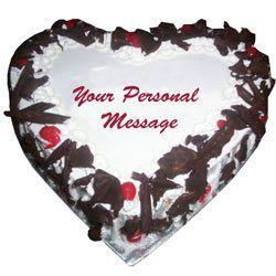 3 KG heart Shape Black Forest Cake