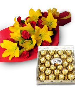 Yellow Lillies, Ferrero Chocolate Box