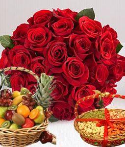 Roses Dryfruit, Fruit Basket