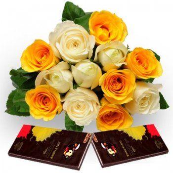 Flowers with Cadbury Bournville Chocolates