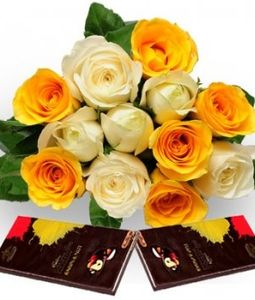 Flowers with Cadbury Bournville Chocolates