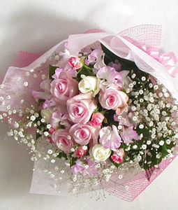 Pink White Rose Bouquet