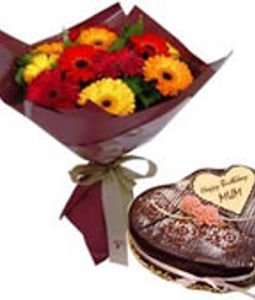 Flowers and Heart Shaped Chocolate Box