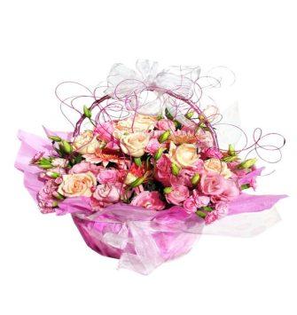 mix colour flower round basket
