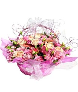 mix colour flower round basket
