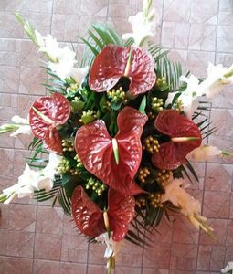 anthurium and glad bunch
