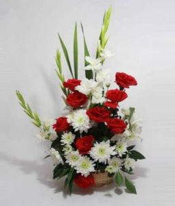 mix flower basket delhi