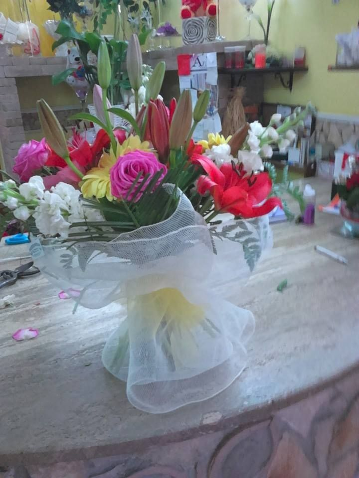 Mix Flowers Net Packing