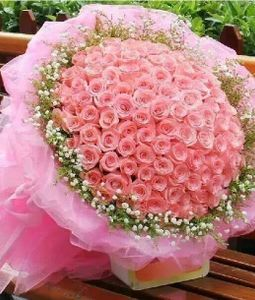 pink flower delivery in ghaziabad