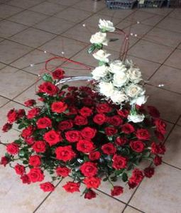 100 rose and 20 white rose basket