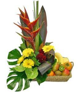 Exotic Flowers n Fruits Basket