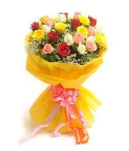 25 Mix Roses Bunch