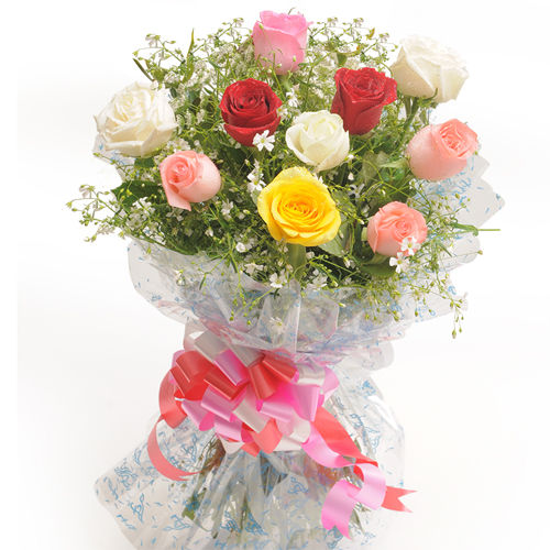 10 Mix Roses Bunch