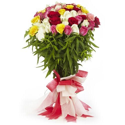 60 Mix Roses Bunch