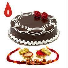 Rakhi With Half Kg Chocolate Cake C1663
