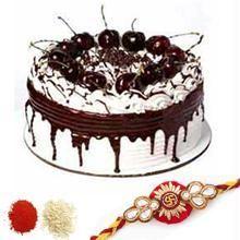 Rakhi With Half Kg Black Forest Cake C1661