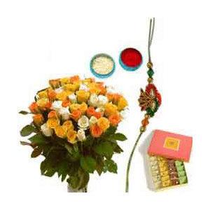 Rakhi Pack with Sweets N Flowers C1127