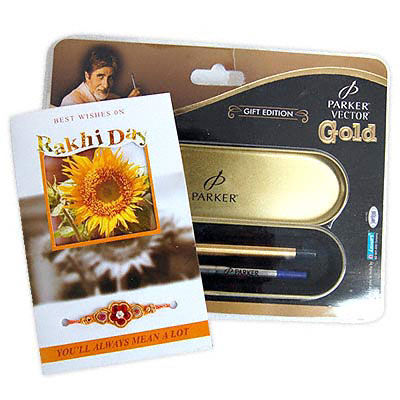 Rakhi Pack with Pen and Card C1103