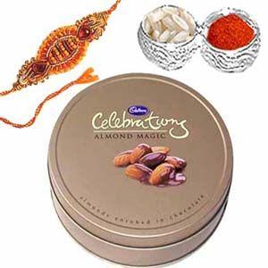 Rakhi Package with Almond Chocolates C1091