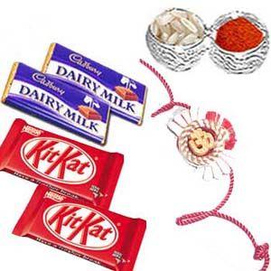Rakhi with Chocolates C1090