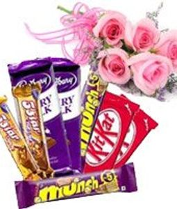Pink Roses and Chocolates